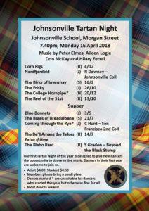 Johnsonville Tartan Night April 2018 @ Johnsonville School Hall   Wellington   Wellington   New Zealand