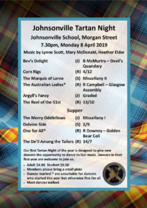 Johnsonville Tartan Night April 2019 @ Johnsonville School Hall | Wellington | Wellington | New Zealand