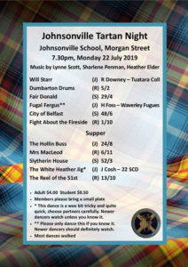 Johnsonville Tartan Night July 2019 @ Johnsonville School Hall | Wellington | Wellington | New Zealand