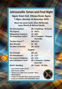 Johnsonville Tartan and Final Night 2020 @ Ngaio Town Hall | Wellington | Wellington | New Zealand