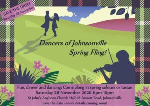 Johnsonville Spring Fling Dinner and Dance 2020 @ St John's Anglican Church Hall | Wellington | Wellington | New Zealand