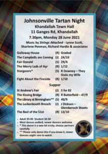 Johnsonville Tartan Night June 2021 @ Khandallah Town Hall | Wellington | Wellington | New Zealand